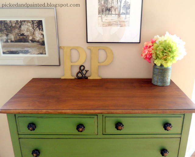 Green Farmhouse Dresser Traditional Bedroom St Louis