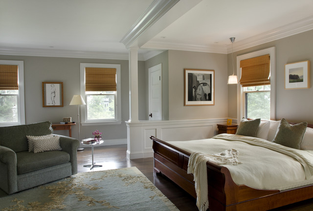 Green Gambrel Master Bedroom Farmhouse Bedroom