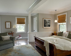 Green Gambrel Master Bedroom traditional bedroom