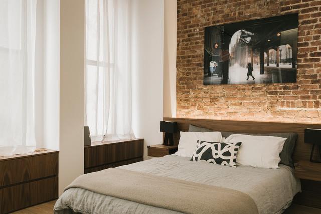 Greenwich Village Loft industrial-bedroom