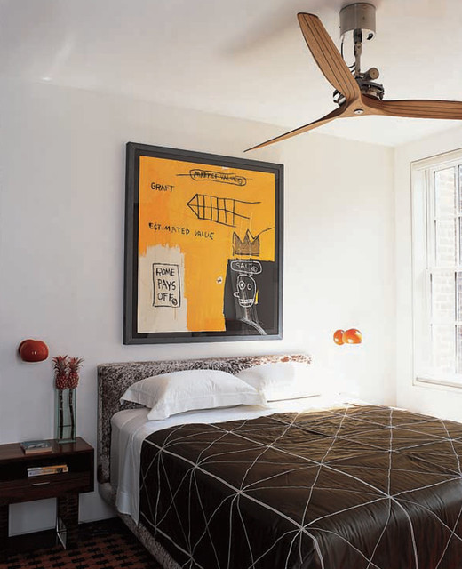 Greenwich Village Townhouse Guest Bedroom contemporary-bedroom