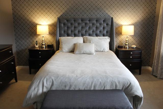 Grey Master Bedroom - Contemporary - Bedroom - Ottawa - by ...
