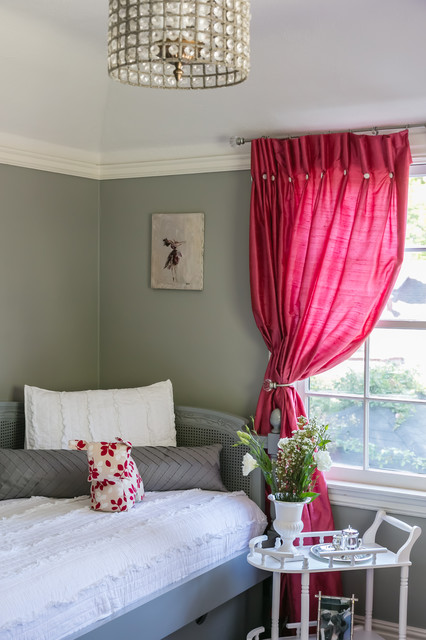 Grey pink and white girl 39 s bedroom traditional - Gray white and pink bedroom ...