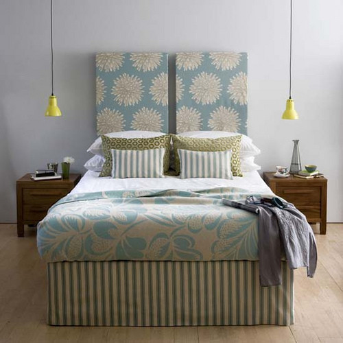 Grey walls turquoise bedding bedroom other metro - Turquoise and gray bedroom ...