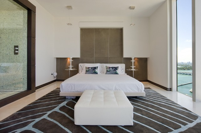 Guest Bedroom Modern Bedroom Miami By David De La
