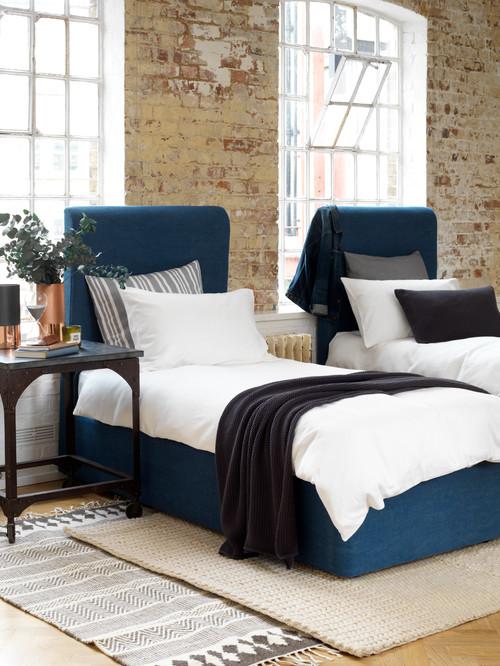 Guest Bedroom in Denim Tones - Samphire Twin Beds