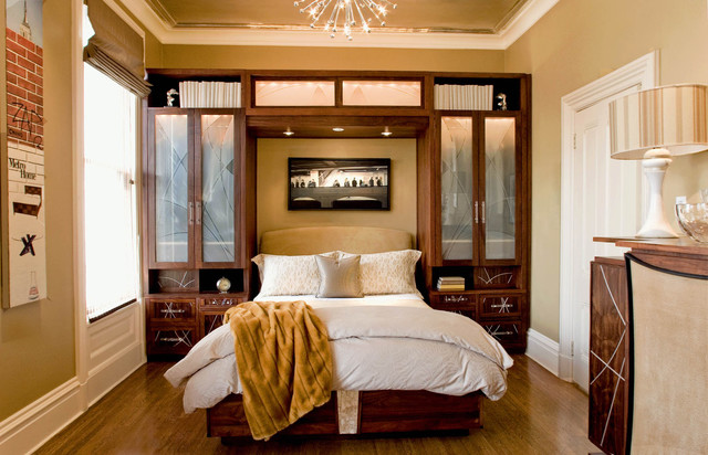 Contemporary Victorian Design guest bedroom in modern victorian - contemporary - bedroom - san