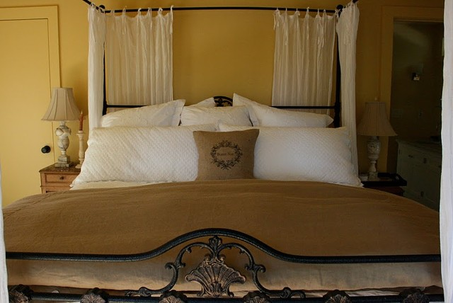 Guest bedroom in the wine country traditional bedroom