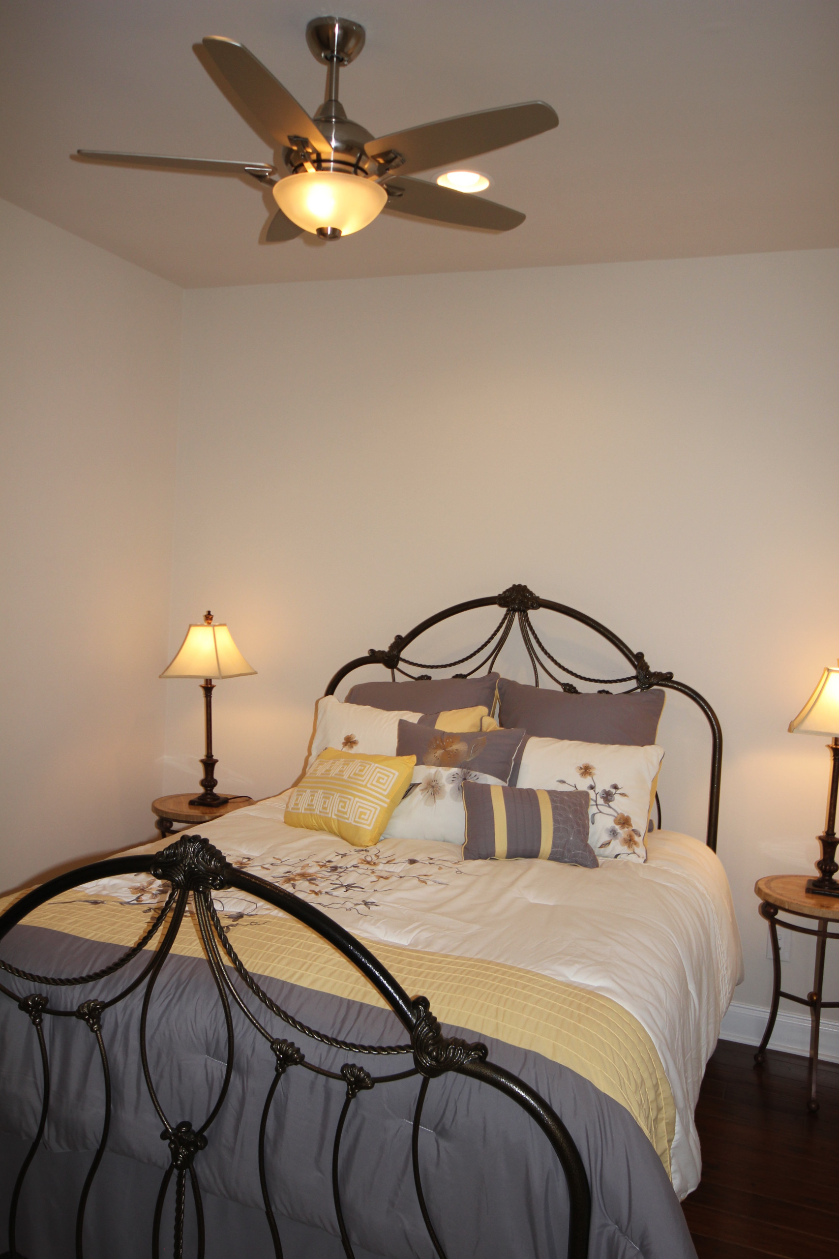 Guest Bedroom in Yellows and Grays