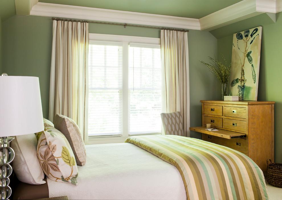 Large transitional bedroom photo in Atlanta