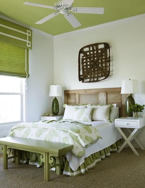 Bedroom - beach style bedroom idea in Atlanta