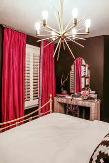 75 Most Popular Red Bedroom With Black Walls Design Ideas For November 2020 Stylish Red Bedroom With Black Walls Remodeling Pictures Houzz Au