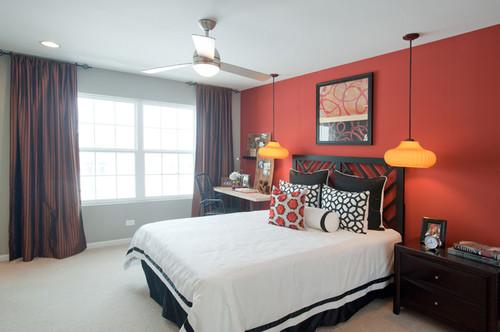 contemporary bedroom by chicago interior designers decorators mary
