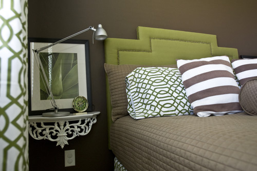 Proper Hunt Gray Bedrooms With Green Accents