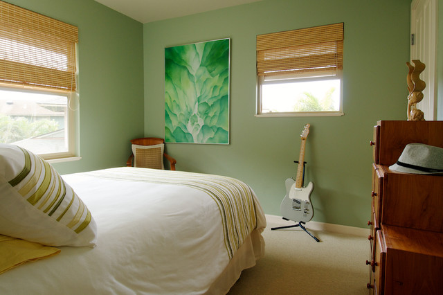 Guest bedroom tropical bedroom los angeles by for Tropical interior paint colors
