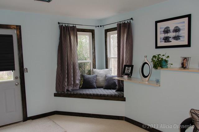 Guest Bedroom/Window Seat, Cumming GA - Contemporary - Bedroom ...