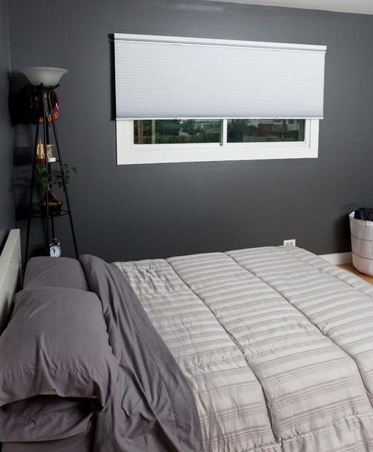 Guest Bedroom With Applause Blackout Top Down Bottom Up Honeycomb Shades Modern Bedroom