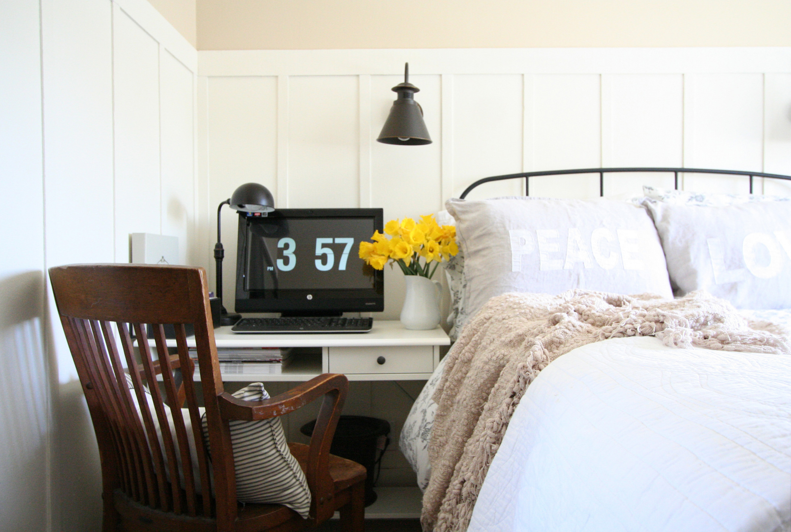 Guest Bedroom with Couples Shared Office