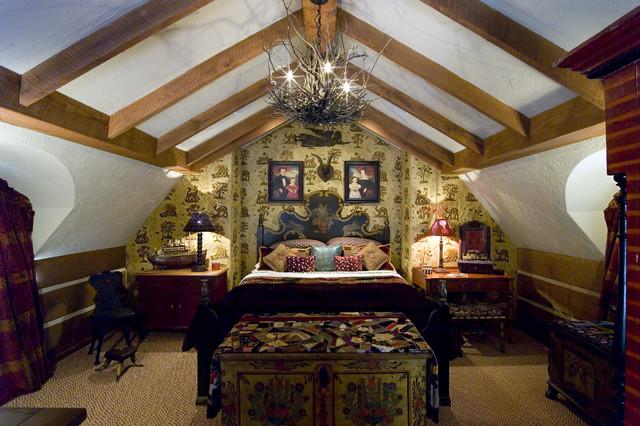 Guest Cottage rustic-bedroom