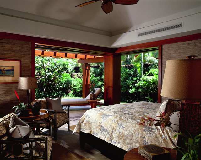 Guest house bedroom tropical bedroom hawaii by for Tropical bedroom design