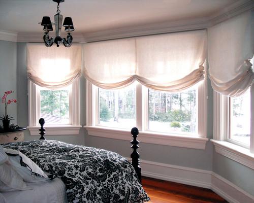 歐美羅馬窗簾款式:微笑型羅馬窗簾
