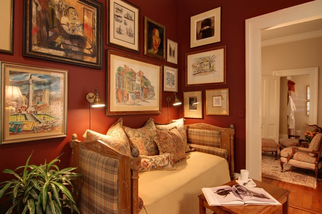 Guest Suite Study With Custom Antique Daybed Traditional