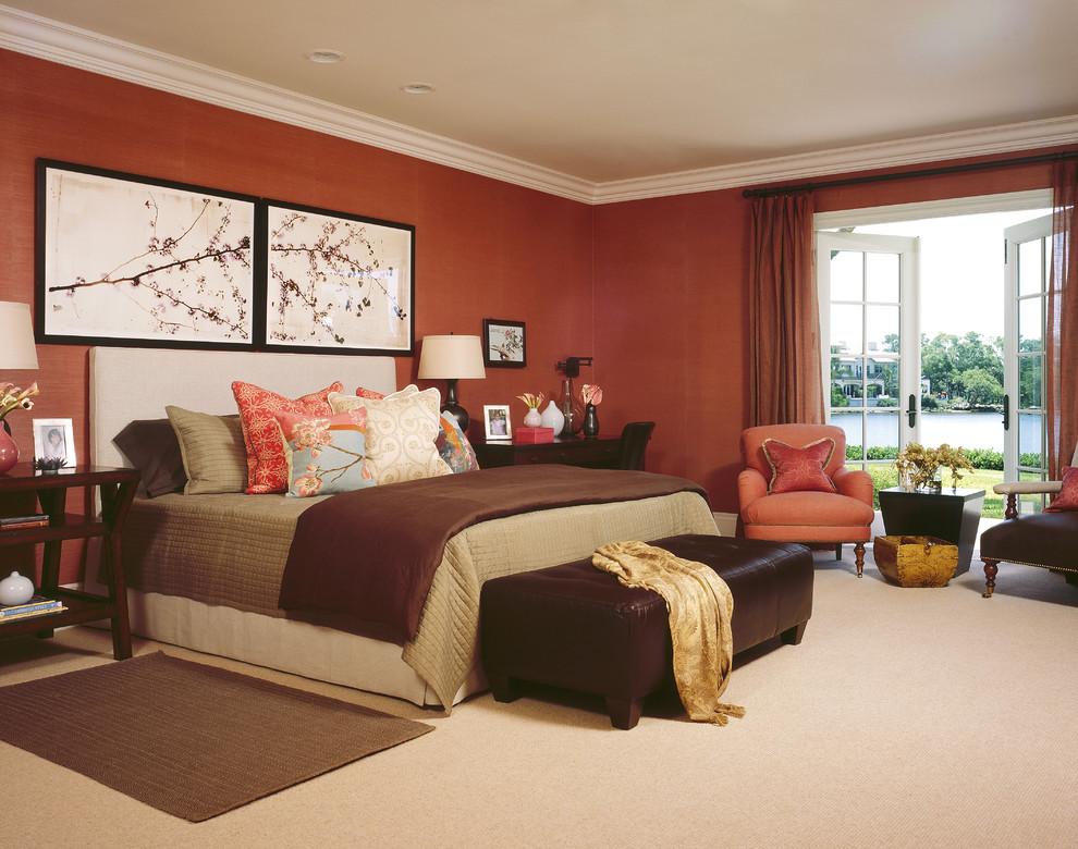 Example of an eclectic bedroom design in Denver