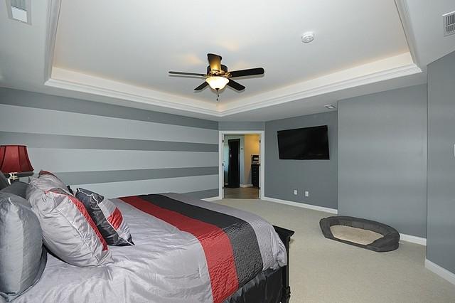 GuyCo - Red Oak Custom Home contemporary-bedroom