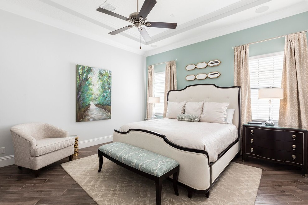 Inspiration for a transitional bedroom remodel in Orlando