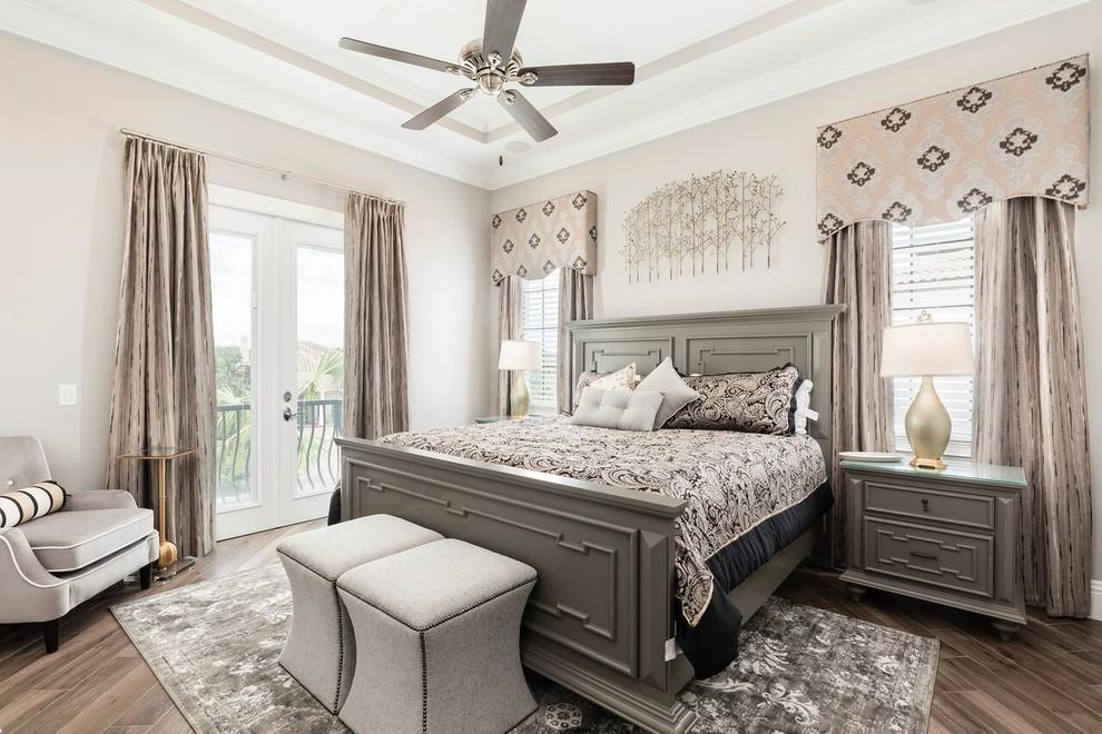 Transitional bedroom photo in Orlando