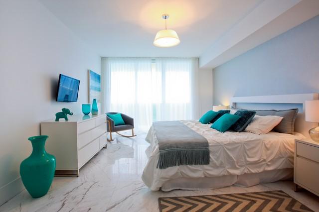 Hallandale Beach Condo Beach Style Bedroom