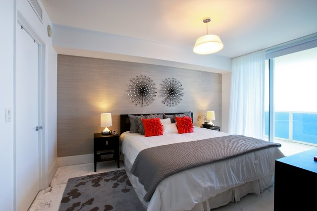 Hallandale Beach Condo Contemporary Bedroom Miami