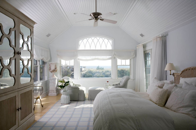 Hamptons beach house transitional bedroom new york for Hamptons beach house interiors