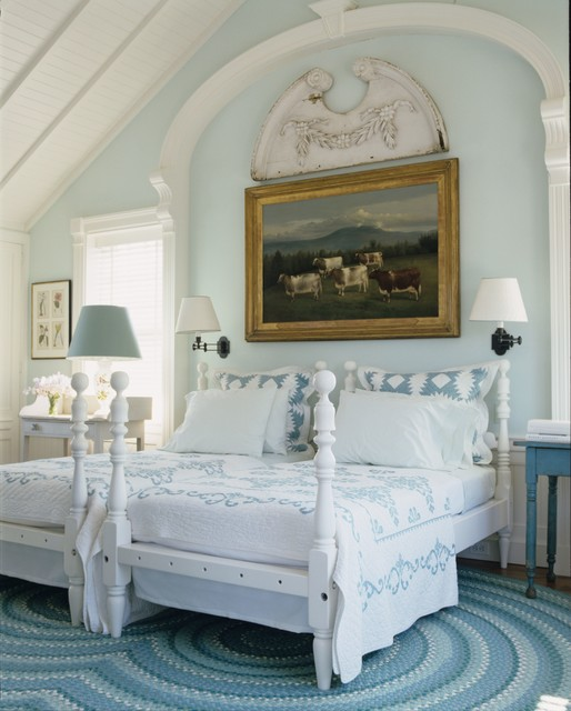 hamptons country beach style bedroom