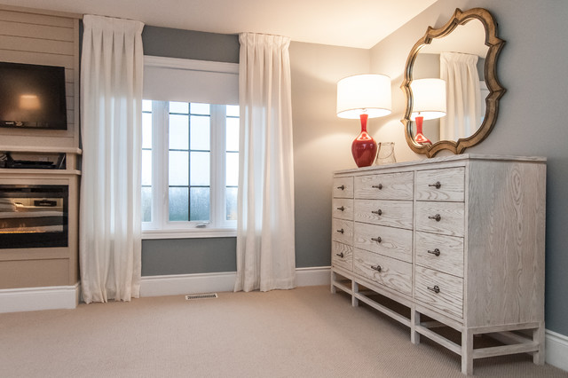 Hamptons inspired bedroom transitional bedroom other for Classique ideas interior designs inc