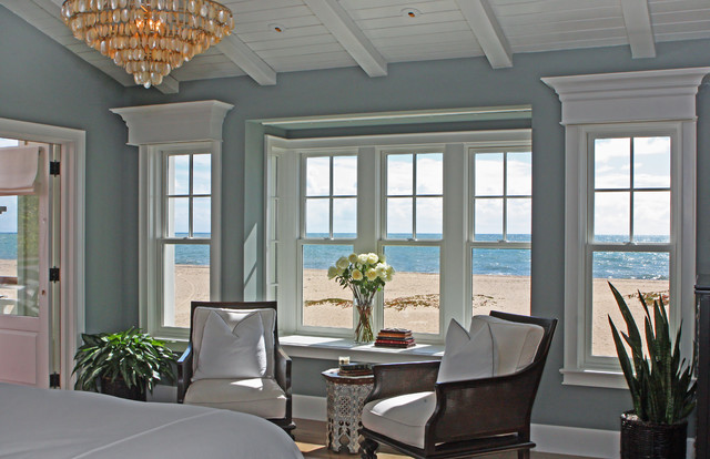 hamptons style traditional bedroom