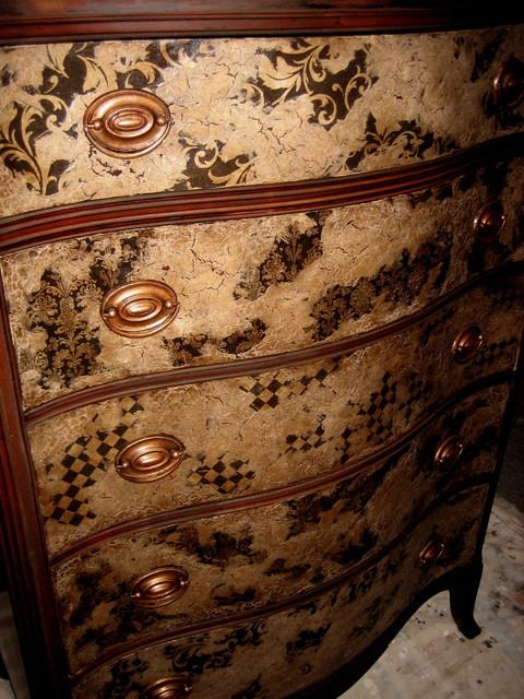 handpainted dresser eclectic-bedroom