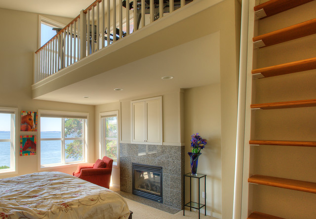 Master Bedroom With Exercise Loft Views To Saratoga Passage