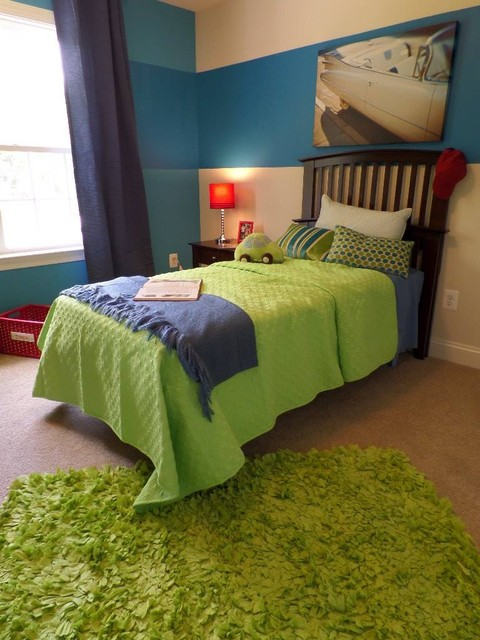 happy colors contemporary bedroom