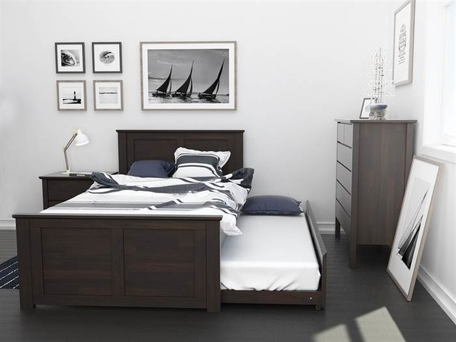 HARDWOOD KIDS KING SINGLE TRUNDLE BEDROOM SUITE 4PCE ...