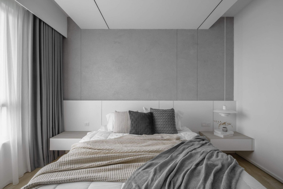 Inspiration for a contemporary bedroom in Melbourne.
