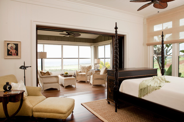 Tropical Master Bedroom Amp Private Lanai Tropical Bedroom San Francisco By Chelsea Court