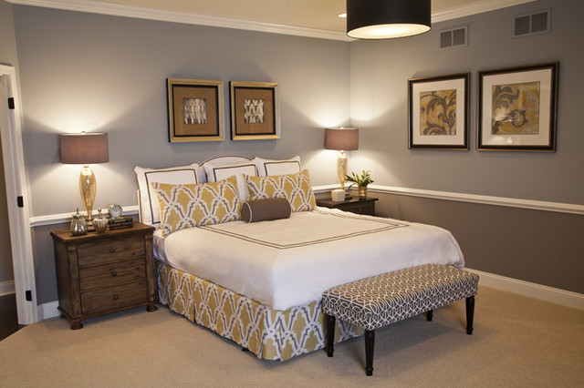 Hawthorn Woods Columbia Bedroom contemporary-bedroom