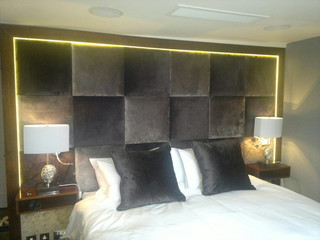 Headboards wall panels contemporary bedroom kent by victoria gayle interiors for Contemporary wall panels interior uk
