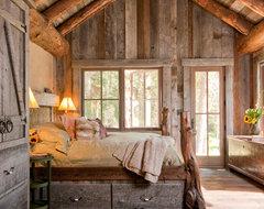 Headwaters Camp Cabin, Big Sky, Montana rustic-bedroom