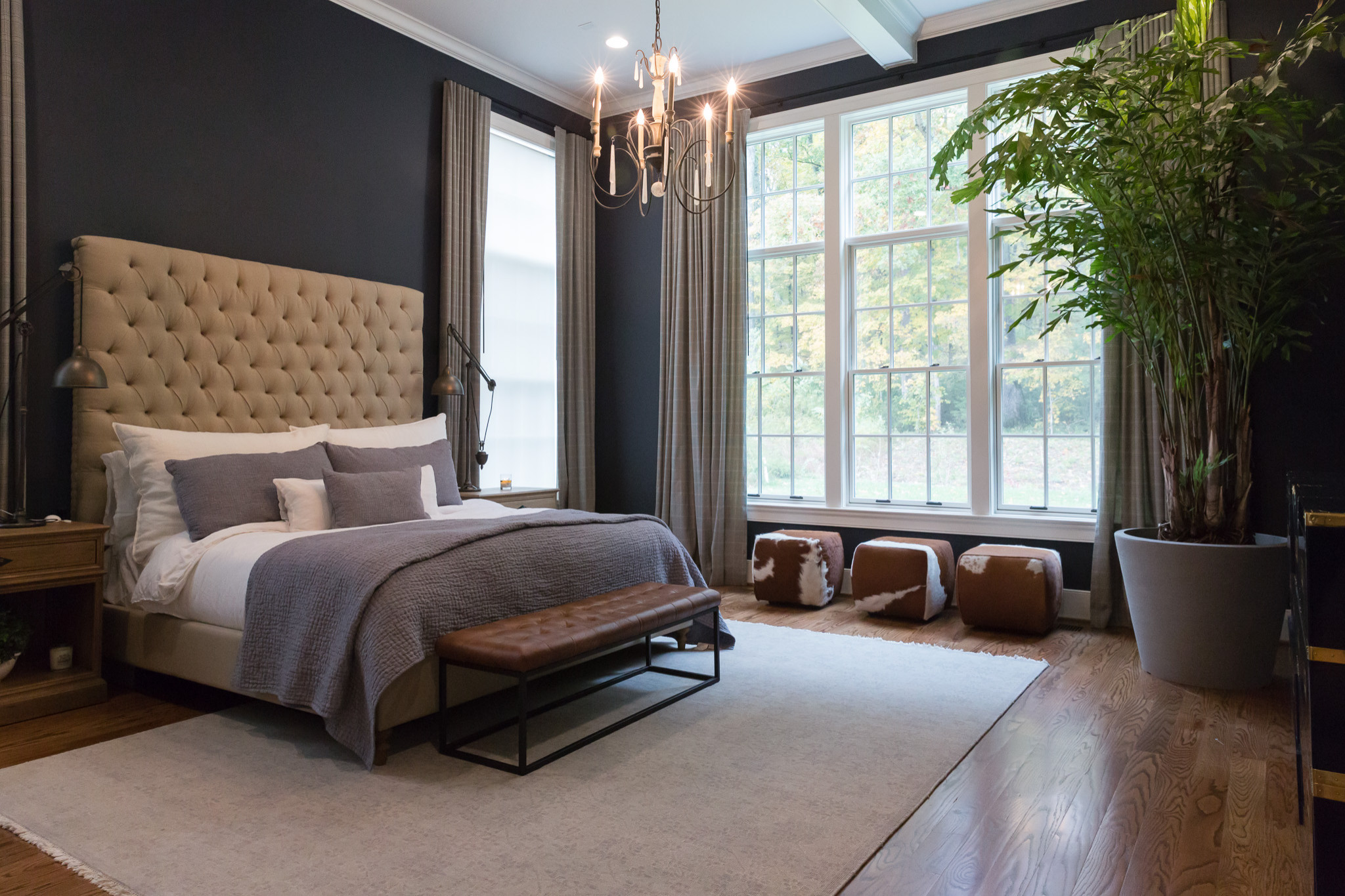 75 Beautiful Bedroom With Black Walls Pictures Ideas April 2021 Houzz