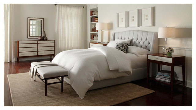 Helaine Bed Hughes Storage Pieces Modern Bedroom By Mitchell Gold Bob Williams