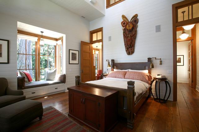 Henry Island rustic-bedroom