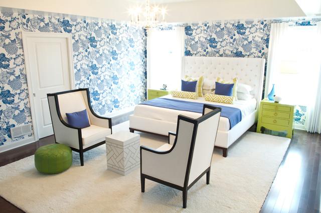 eclectic bedroom by alisha gwen interior design