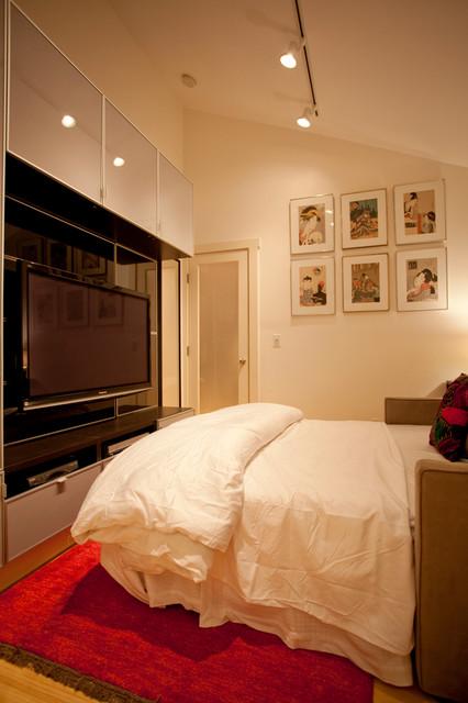 hidden gem guest room media room modern bedroom